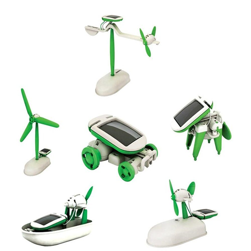 6 in 1 Educational 'do it yourself kit' Solar Kit to Build Robot Toy Car Plane Puppy Airboat Windmill The Source