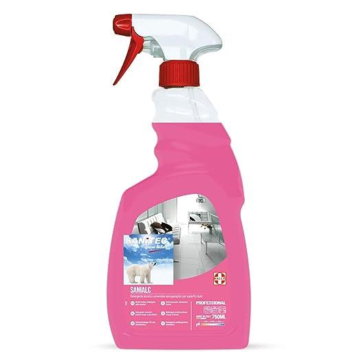 6 opinioni per Sanitec Sanialc Detergente Multisuperficie Spray 750 ml