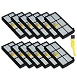 MZY LLC 12 Pack Hepa Filter Filters Replacement For irobot Roomba 800 series 870 880 Robotic Vacuum Parts
