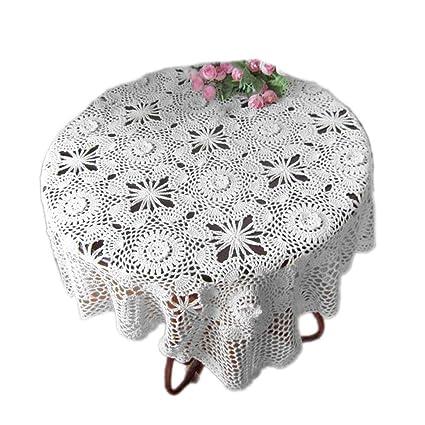 tidetex rústico tridimensional Pastoral flores mantel mano croceht Floral toalla de gamuza de mesa mesa de