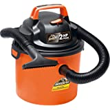 "Armor All 2.5 Gallon 2 HP 1-1/4"" Hose, Portable Wall Mountable Wet/Dry Utility Vac (VOM205P0901), Orange"