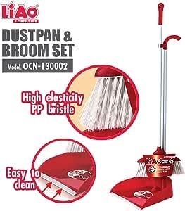 LIAO OCN-130002 Dustpan & Broom Set, 29L x 4W x 89H