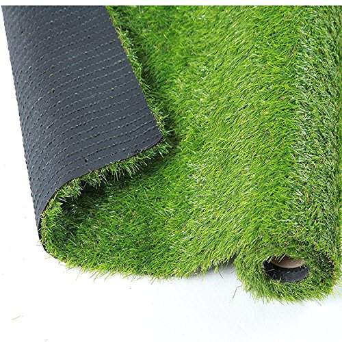 QYH Artificial Grass Rug Fake Grass Turf Indoor/Outdoor Green Lawn Carpet Synthetic Grass Mat for Pet Landscape Patio and Yard (3.3'x 13.5')