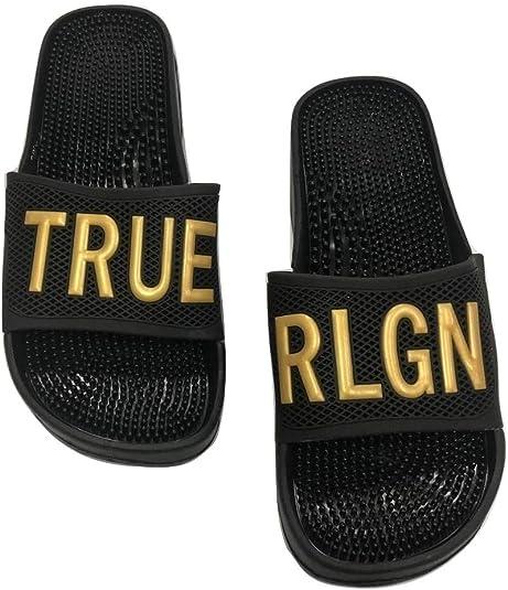 Size Small 5-6 Black//Gold NEW Bebe Metallic Mesh Clog Slippers
