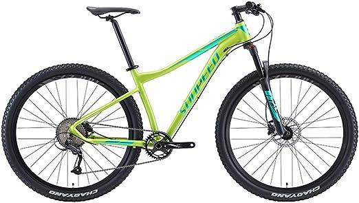 NENGGE 9 Velocidades Bicicleta Montaña, Ligero Aluminio Cuadro ...