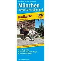 München - Bayerisches Oberland: Radwanderkarte mit Ausflugszielen, Einkehr- & Freizeittipps, wetterfest, reissfest, abwischbar, GPS-genau. 1:100000 (Radkarte/RK)