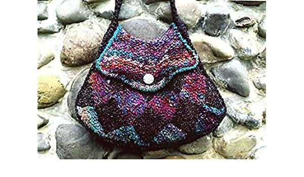 Entrelac Purse Knitting Instruction Pattern Oat Couture AC301