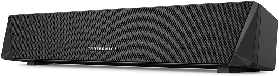 TaoTronics Gaming Computer Speaker, Dual Powerful 7W Drivers PC Soundbar, Colorful RGB Light, Wireless Bluetooth 5.0 or 3.5mm Aux-in Connection, Stereo Audio Computer Sound Bar for Desktop