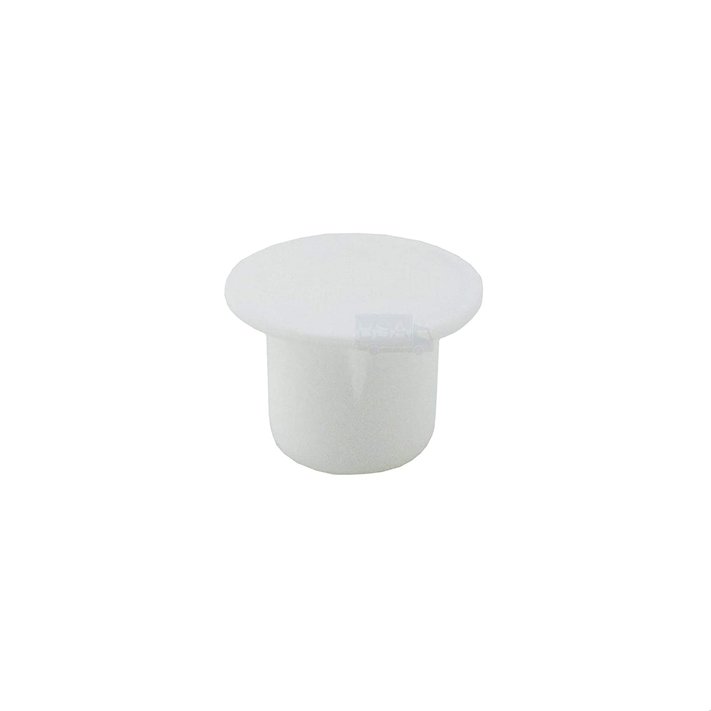 10/Bouchons Cache-trou 8/mm IROX Blanc Plastique T/ête 12/mm bouchon cache trou