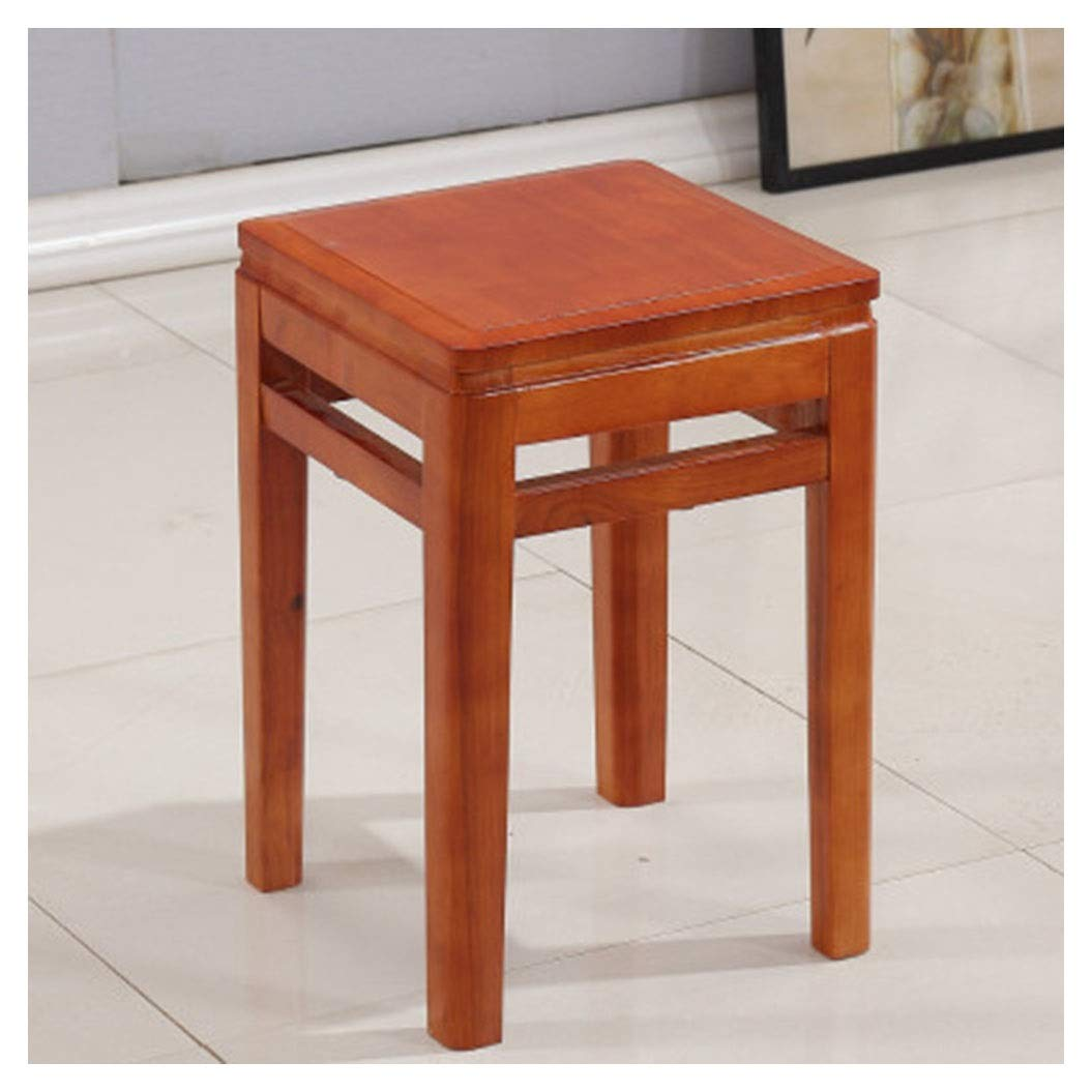 B B.YDCM Wooden Bench- Creative Small Bench Square Stool Low Square Square Guzheng Dressing Stool Chair Modern - Wood Bench (color   A)