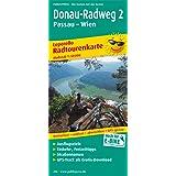 Radwanderkarte Donau-Radweg 2 Passau-Wien: Mit Ausflugszielen, Einkehr- und Freizeittipps, reissfest, wetterfest, beschriftbar und wieder abwischbar. 1:50000 (Livre en allemand)