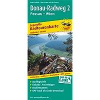 Donau-Radweg 2, Passau - Wien: Leporello Radtourenkarte mit Ausflugszielen, Einkehr- & Freizeittipps, wetterfest, reissfest, abwischbar, GPS-genau. 1:50000 (Leporello Radtourenkarte / LEP-RK)