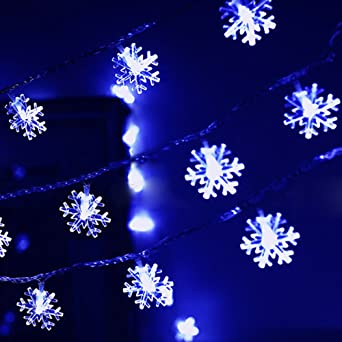 Guirlande lumineuse noel bleu