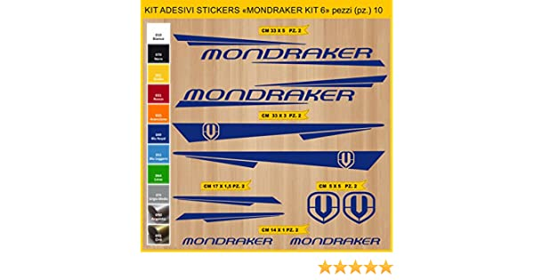 Kit Pegatinas Stickers Bicicleta MONDRAKER - Kit 6-10 Piezas- Bike Cycle Cod. 0886 (049 BLU Royal): Amazon.es: Deportes y aire libre