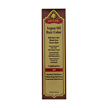 Amazon Com One N Only 3rv Dark Red Violet Brown Demi Permanent