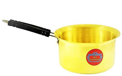 SKY COOKWARE Brass Saucepan (2 Ltr)