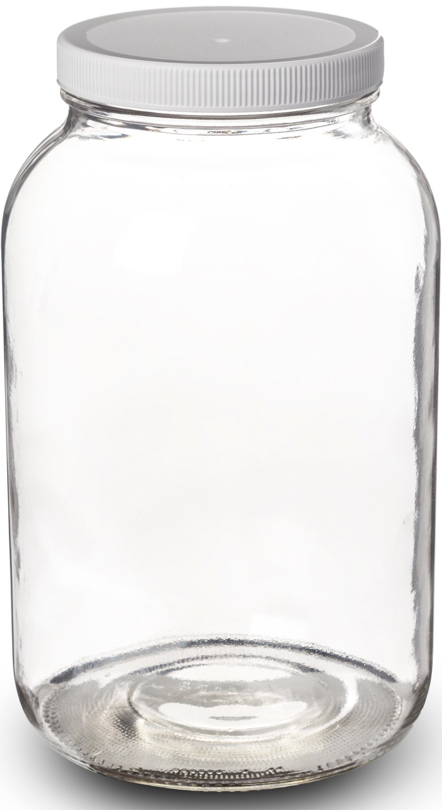 Paksh Novelty 1-Gallon Glass Jar Wide Mouth with Airtight Plastic Lid - USDA Approved BPA-Free Dishwasher Safe Mason Jar for Fermenting, Kombucha, Kefir, Storing and Canning Uses, Clear