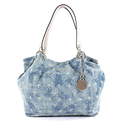 hot sale online ebf39 50fb9 GUESS Cary Carryall Blue Denim: Amazon.co.uk: Shoes & Bags