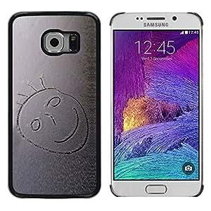LECELL -- Funda protectora / Cubierta / Piel For Samsung Galaxy S6 EDGE SM-G925 -- Snow Smiley --