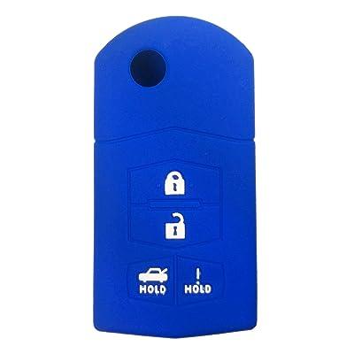 715776343472 Silicone Key Fob Cover Case Protector Smart Remote Control Shell Keyless Entry Case Holder Cover For Mazda 3 5 6 CX-7 CX-9 RX-8 MX-5 Miata: Automotive