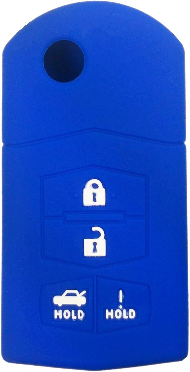 Rpkey Silicone Keyless Entry Remote Control Key Fob Cover Case protector For Mazda 3 5 6 CX-7 CX-9 RX-8 MX-5 Miata 662F-SKE12501 KPU41788 BGBX1T478SKE125-01 SKE12501 G2YA-76-2GXB
