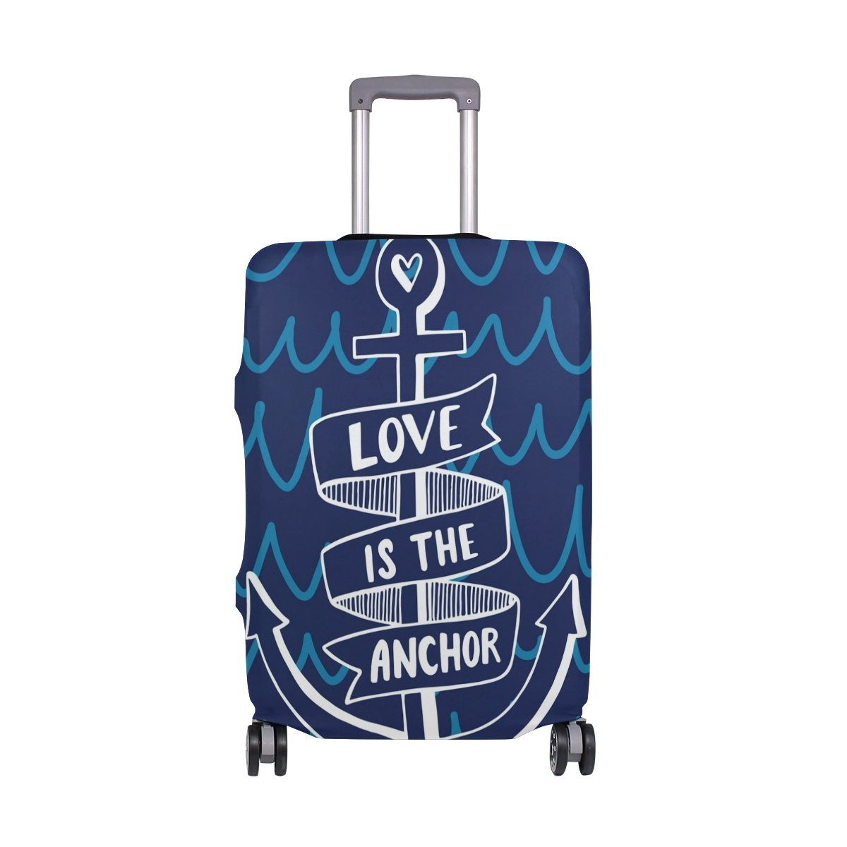Vintage Love Anchor Ocean Sea Suitcase Luggage Cover Protector for Travel Kids Men Women