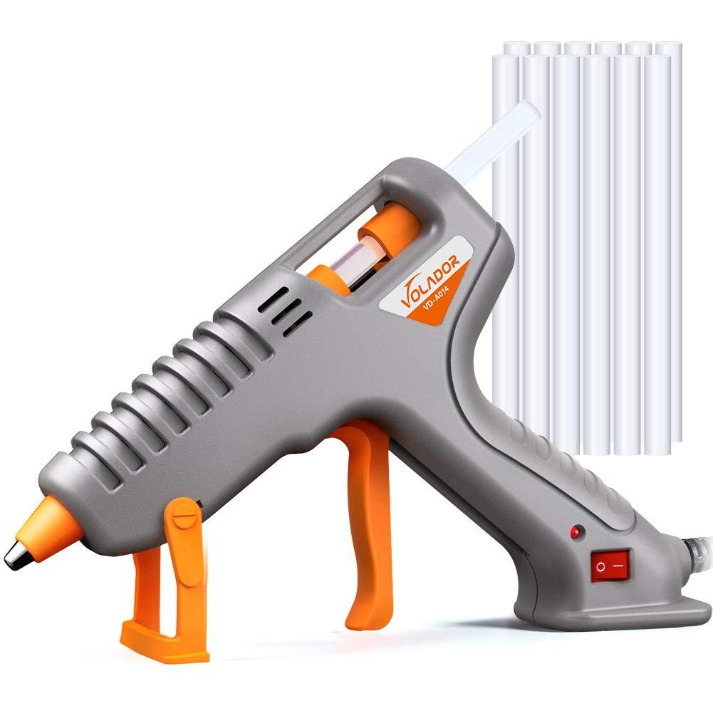 Hot Glue Gun, Volador 60W Anti-Drip Hot Melt Glue Gun Kit with 12PCS Glue Sticks for DIY Arts Crafts Sealing Hobbies Home Repairs