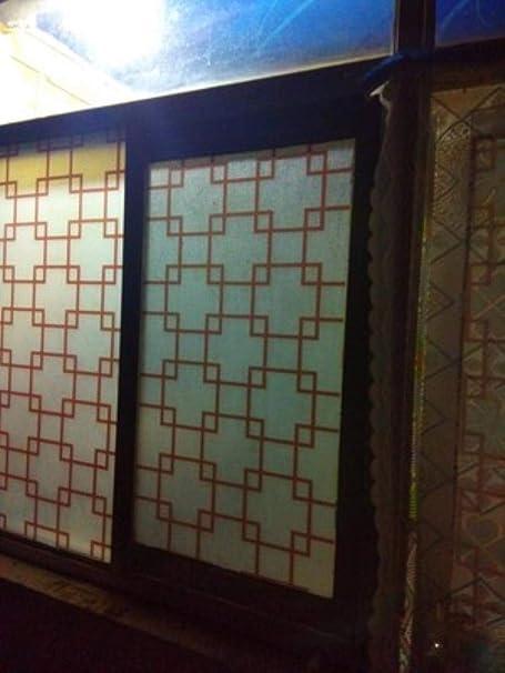 Rainandsnow 60 cm X 200 cm Ventana película Vidrio Decorativo Pegatinas baño Puerta corredera Vidrio película balcón Ventana Vidrio Pegatinas,Color,60cm Wide: Amazon.es: Hogar