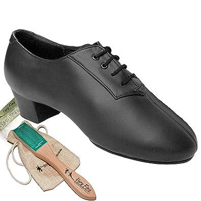 84e058031e81 Men s Ballroom Dance Shoes Tango Wedding Salsa Latin Dance Shoes Black  Leather S420EB Comfortable - Very
