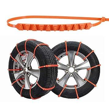 MGYAY - Cadena Antideslizante para neumáticos de Coche con Rueda de Nieve, para Invierno, Seguridad, Naranja: Amazon.es: Deportes y aire libre