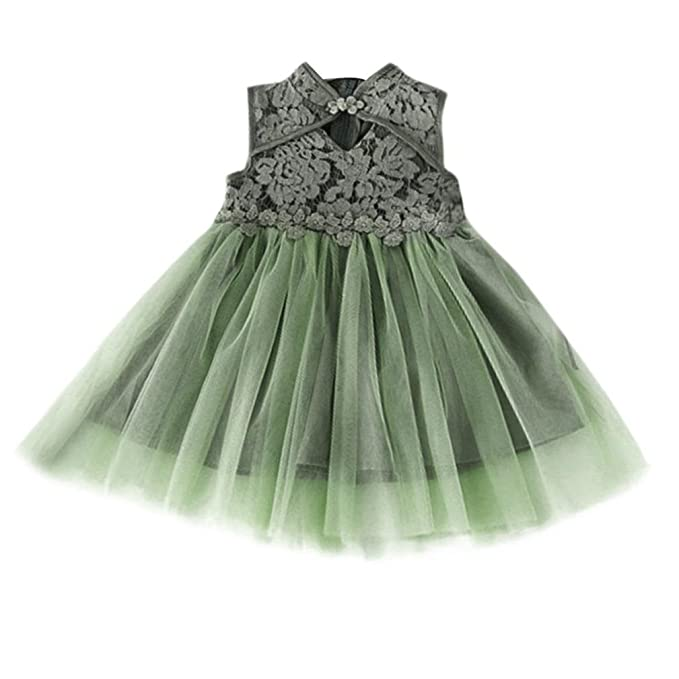 072fb4690319 Amazon.com  KONFA Teen Toddler Baby Girls Lace One-Piece Dress ...