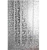Moolecole a Prueba De Agua Moho Transparente Cortina De Ducha Grueso Guijarro Cortina De Baño Del Grano Ancho 180cm Altura 180cm Con Los Anillos En Forma De C