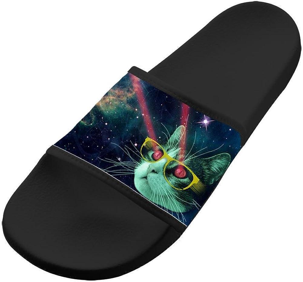 Space Cat Unisex Adults Home Sandals Slippers Indoor Shower Flats Flip Flops Open toed Slide Shoes