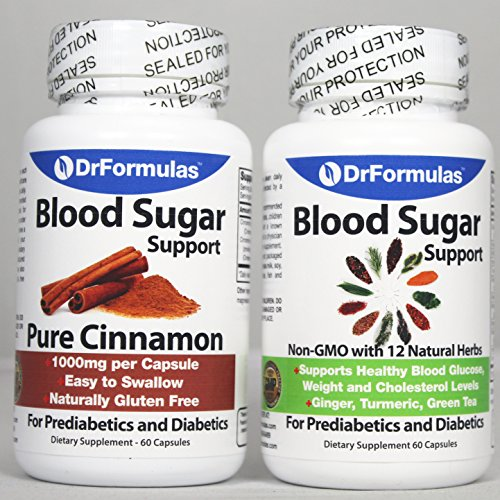 DrFormulas Blood Sugar Support | Diabetes Health Pack Supplements for Kids & Adults Glucose, Insulin & Cholesterol Control with Cinnamon Cinsulin, Turmeric, Vitamins Vital Nutrients