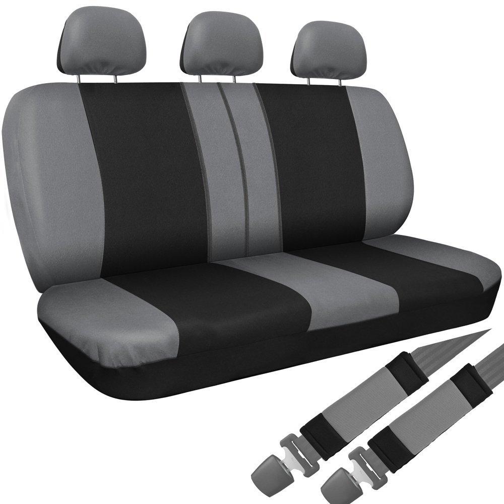 Full set car seat covers fit Kia Soul black//silver seat cover