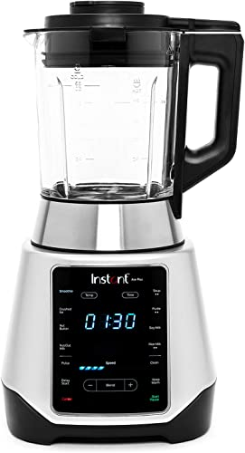 Instant Ace Plus Blender, 54 oz Glass Pitcher, Hot Cold Settings, Smoothie, Crushed Ice, Nut Butter, Almond Milk, Pur e, and Soup, 10 Adjustable Speeds