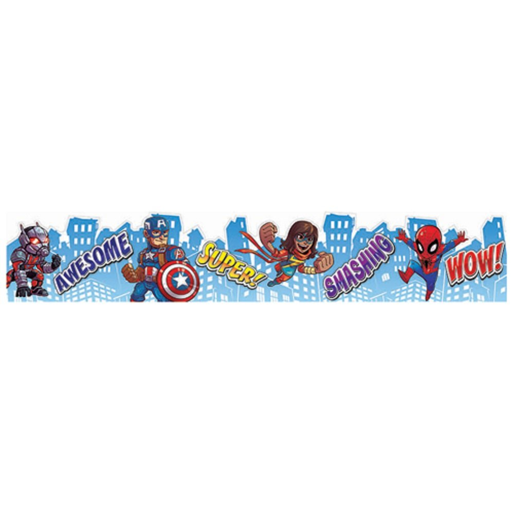 Eureka Marvel Super Hero Adventure Bulletin Board Trim and Classroom Decoration for Teachers, 12pc, 3.25'' W x 37'' L