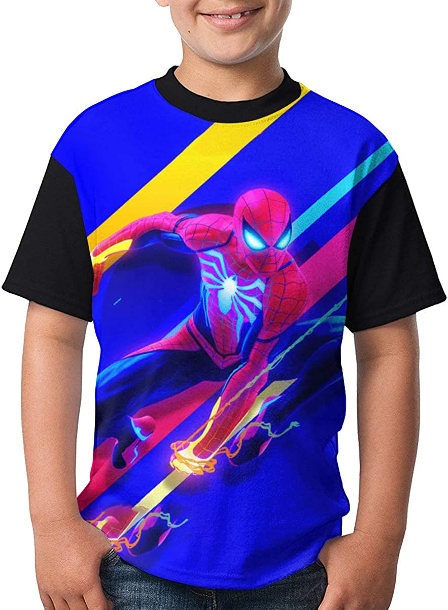 CONNOR WALTERS Miles Morales Gwen Stacy Girls Leisuer Tees Black