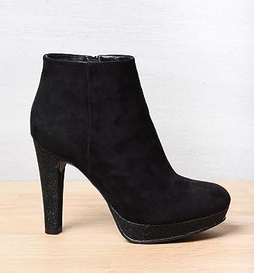 17242745f4964 MyB FEMME Bottines Noir Femme Chaussea  Amazon.fr  Chaussures et Sacs