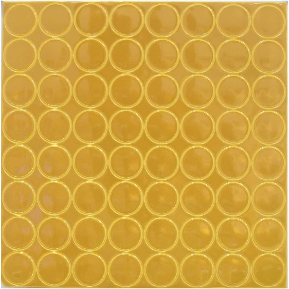 10 mm Round Dots Self Adhesive Neon Yellow Vinyl Luminous PVC Film Coding Dots 612 Sticky Dots