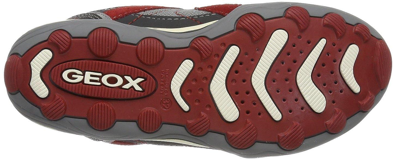 Geox JR ARNO A, Sneaker bambini, Gris - Grau (GREY/RED C0051), 24