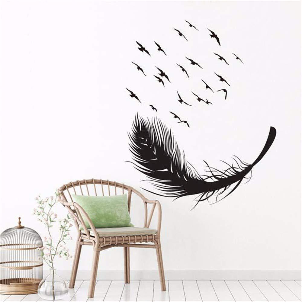 YWLINK DIY Pluma De Aves Dormitorio Sofá Puerta De Vidrio ...
