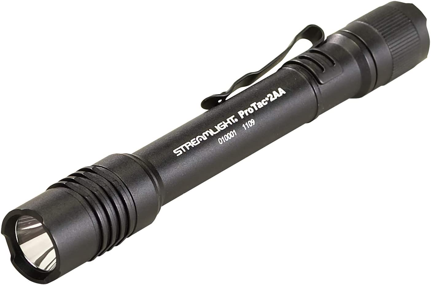 This is an image of StreamLight Protac 2AA Flashlight in black color.