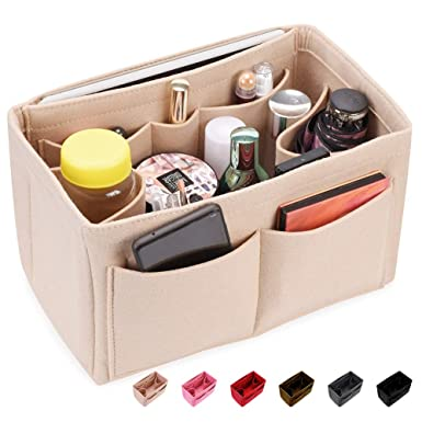 7ce7ff83374e Image Unavailable. Image not available for. Color: Felt Insert Bag  Organizer Bag In Bag For Handbag Purse ...