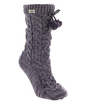 Women's W Pom Fleece Lined Crew Sock,
