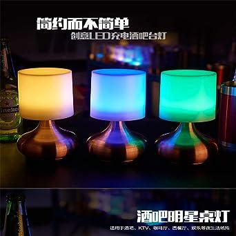Lámpara de mesa recargable led lámpara de mesa vela luminosa luz ...