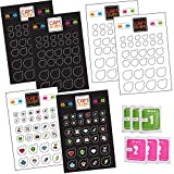 CAM OVER Webcam / Camera Privacy Stickers - Removable, Reusable, Leaves No Residue - Designed for; Smartphones, Tablets, Laptops, Desktops, Smart TVs and Game Devices - 180 Privacy Stickers