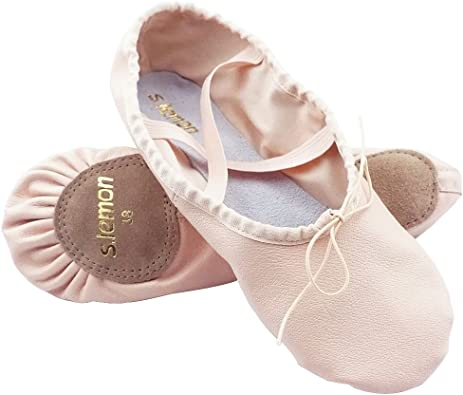 s.lemon Stretch Canvas Dance Ballet Shoes Slippers Flats Pumps for Girls Toddlers Kids