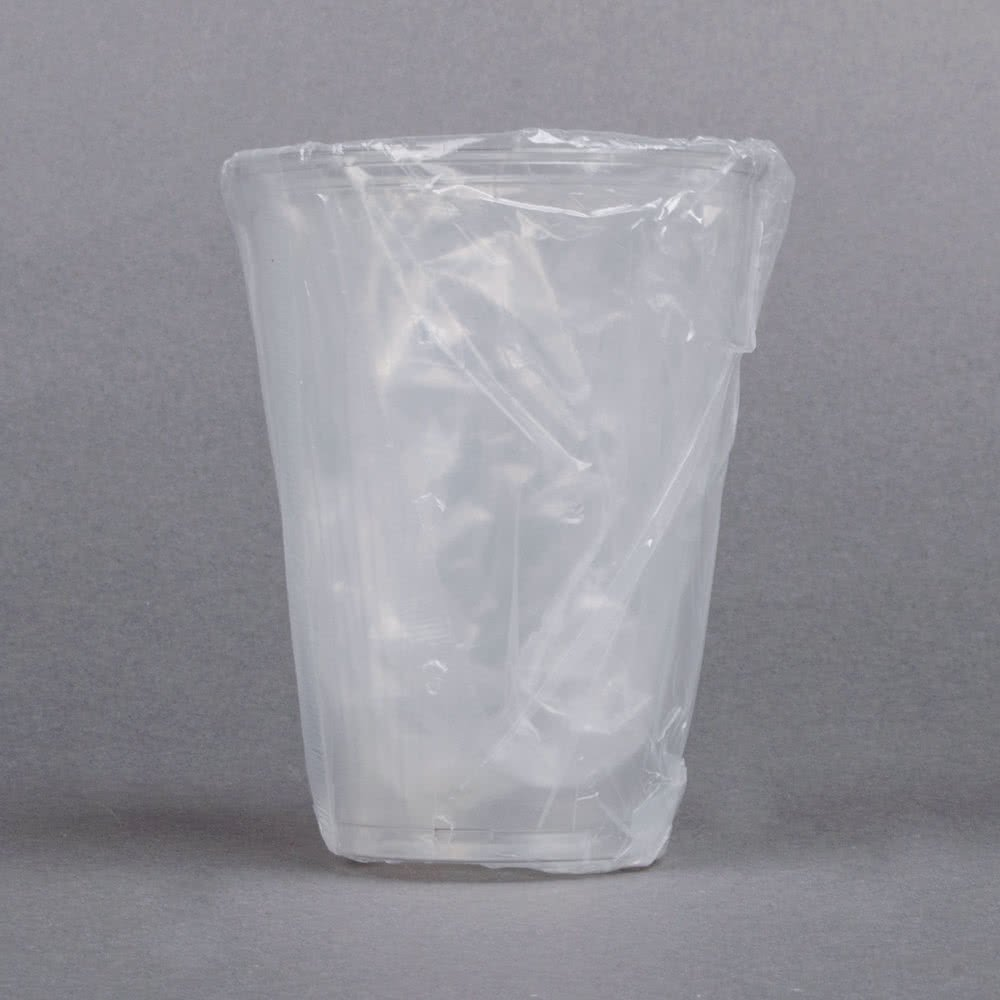 Dart TP10DW UltraClear 10 oz. Hotel and Motel Individually Wrapped Clear Plastic Cups - 500/Case