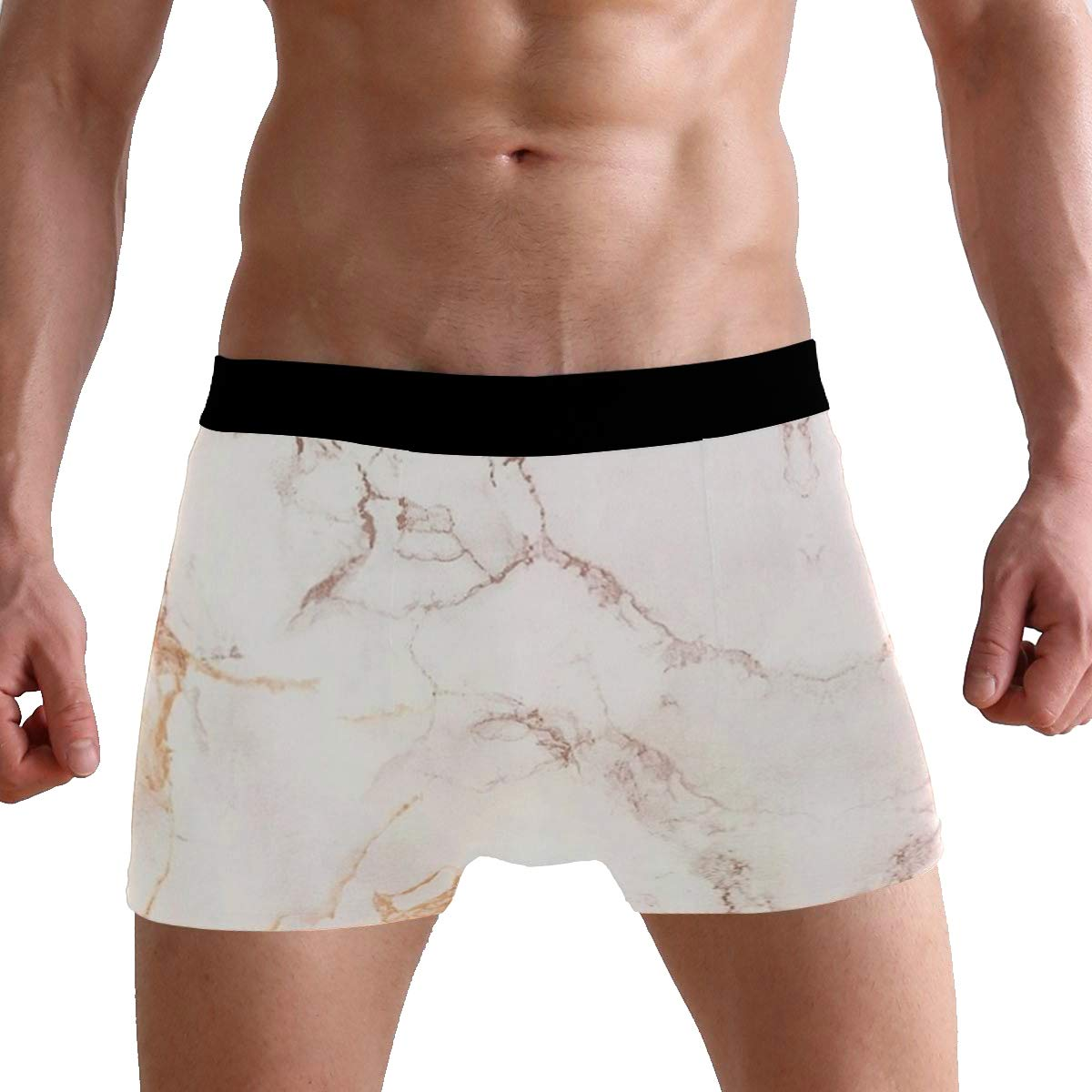 Charlley Lee Mens Soft Breathable Copper Rose Gold Marble Underwear Boxer Briefs